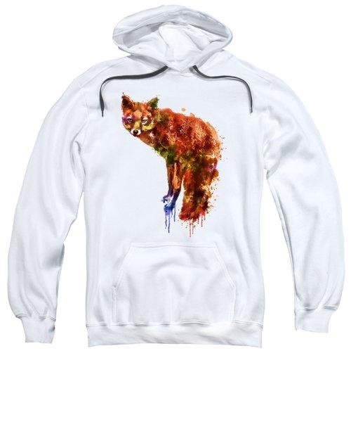 Foxy Lady Watercolor Sweatshirt by Marian Voicu