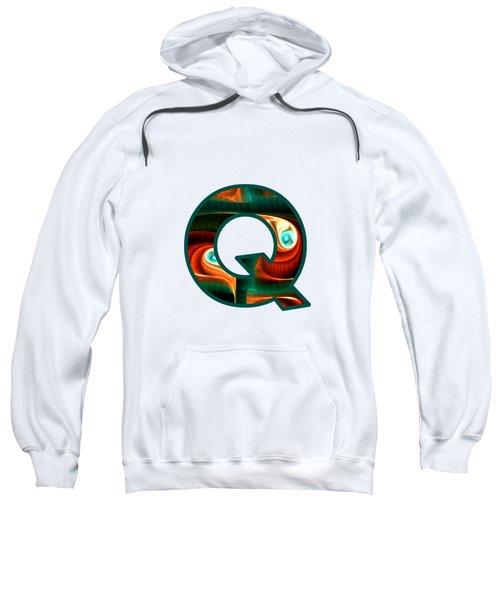 Fractal - Alphabet - Q Is For Quizzical Sweatshirt