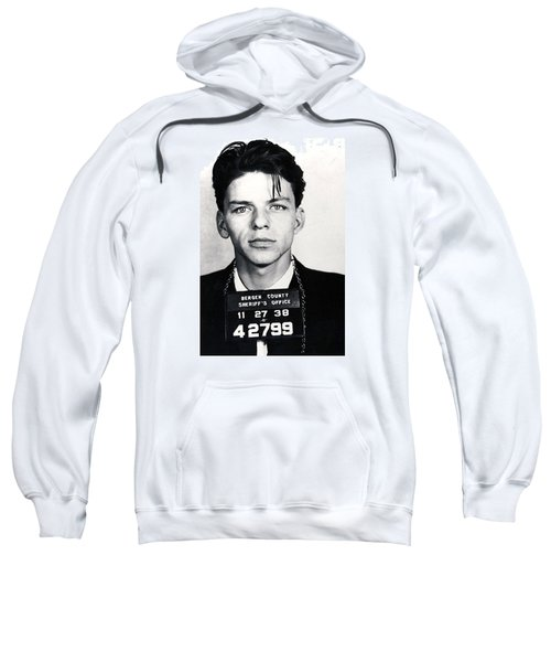 Frank Sinatra Mug Shot Vertical Sweatshirt by Tony Rubino