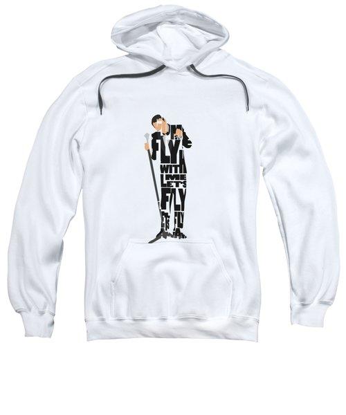 Frank Sinatra Typography Art Sweatshirt