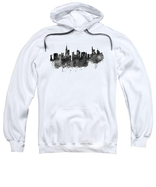 Frankfurt Black And White Skyline Sweatshirt