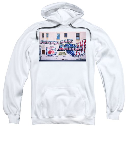 Freedom Made America - Mural Art On Route 66 Sweatshirt