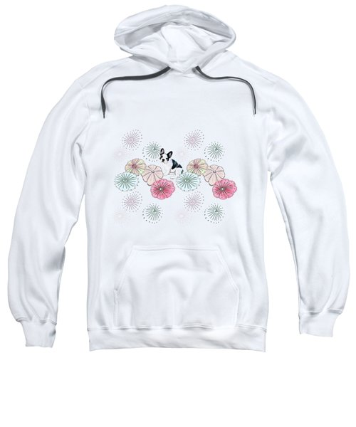 French Bulldog And Flowers Sweatshirt