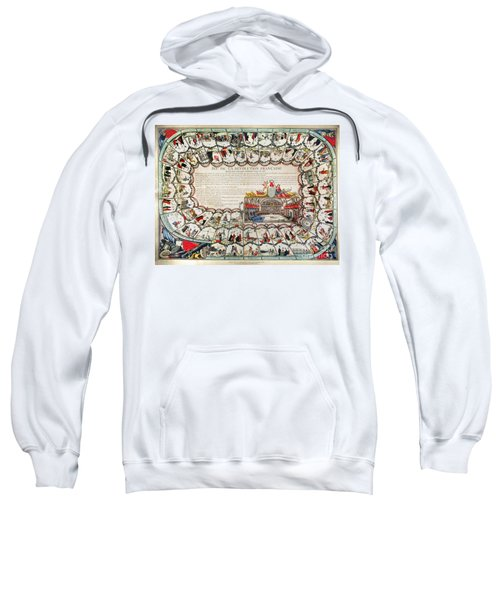 French Game Board, 1791 Sweatshirt