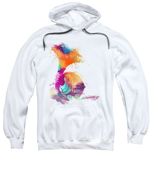 French Horn Watercolor Musical Instruments Sweatshirt by Justyna JBJart