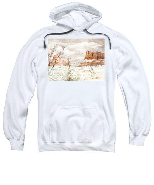 Fresh Snow On Bell Rock Sweatshirt