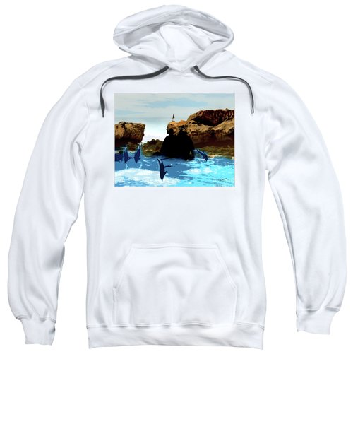 Friends With Dolphins In Colour Sweatshirt