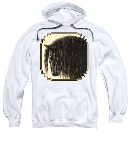 Friesian Horse Phone Case Sweatshirt
