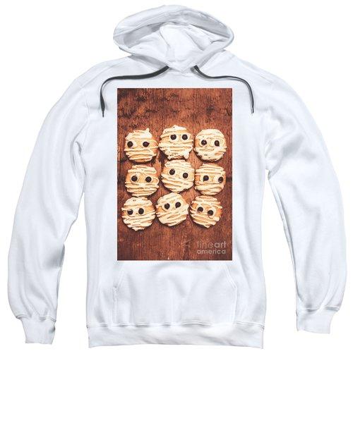 Frightened Mummy Baked Biscuits Sweatshirt