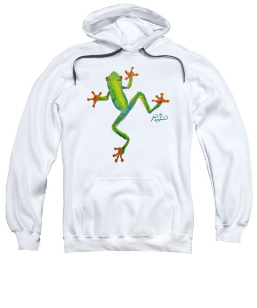 Red Eyed Tree Frog By Jan Marvin Sweatshirt by Jan Marvin