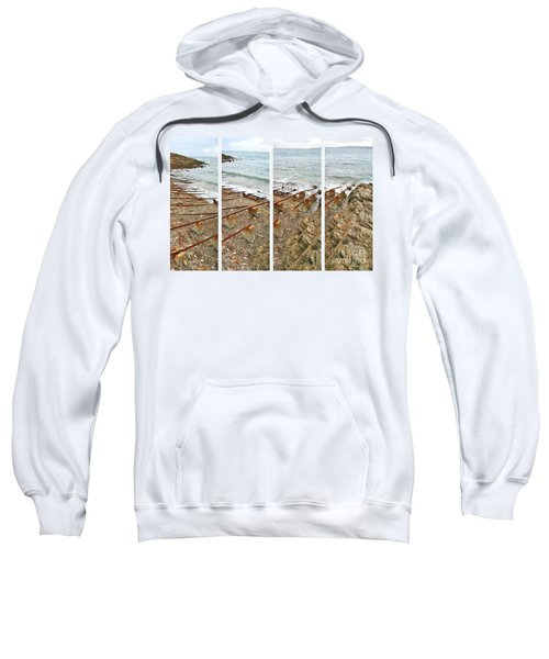 Sweatshirt featuring the photograph From Ship To Shore by Stephen Mitchell
