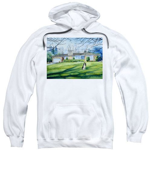 Sweatshirt featuring the painting Front Yard Protection by Hanne Lore Koehler