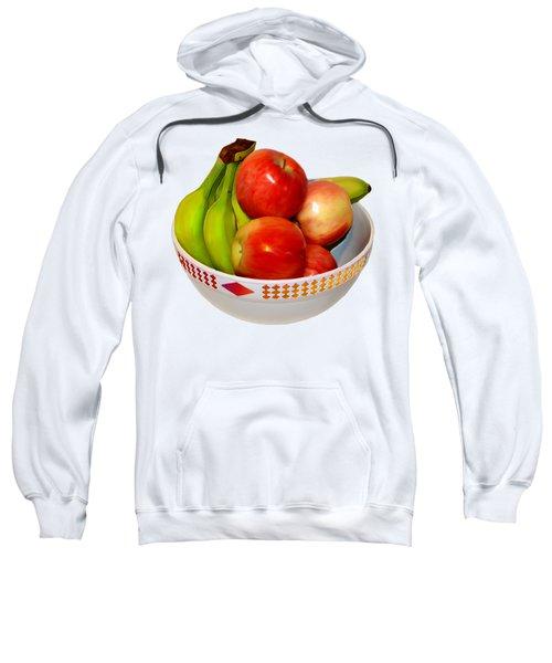 Fruit Bowl Still Life Sweatshirt by William Galloway