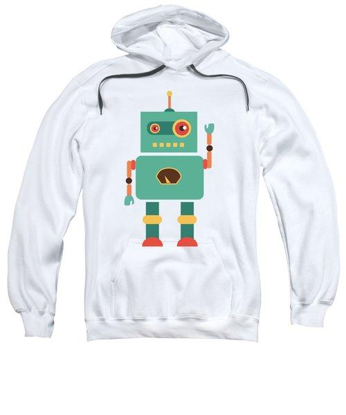 Fun Retro Robot Sweatshirt