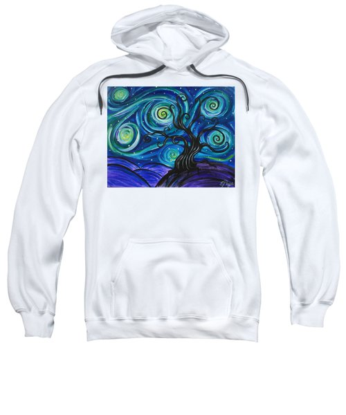 Funky Tree, Starry Night Sweatshirt