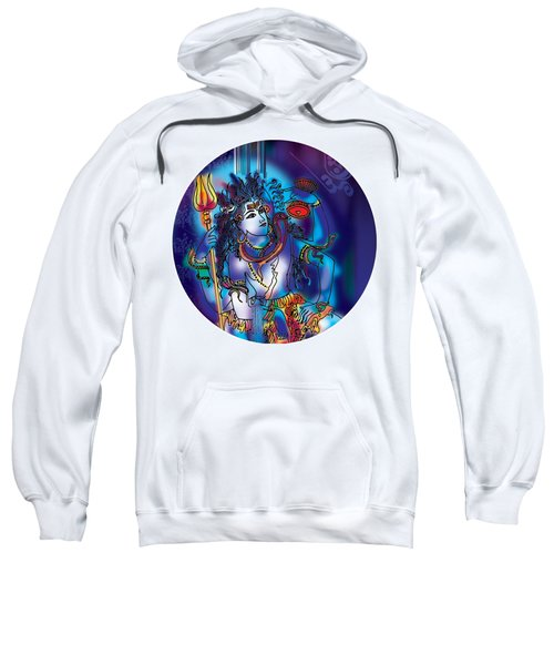 Sweatshirt featuring the painting Gangeshvar Shiva by Guruji Aruneshvar Paris Art Curator Katrin Suter