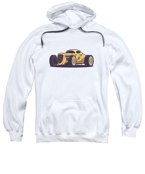 Gaz Gl1 Custom Vintage Hot Rod Classic Street Racer Car - Yellow Sweatshirt