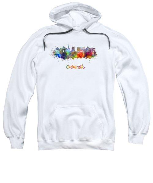 Gdansk Skyline In Watercolor Sweatshirt