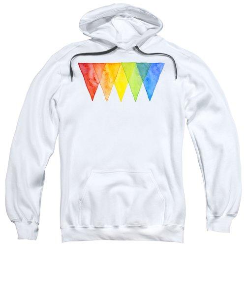 Geometric Watercolor Pattern Rainbow Triangles Sweatshirt
