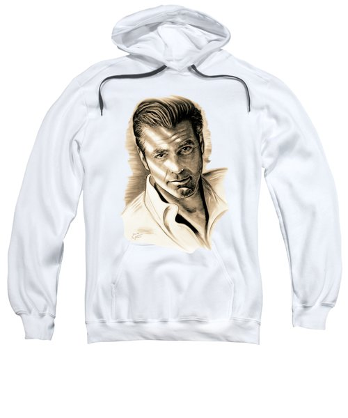 George Clooney Sweatshirt by Gitta Glaeser