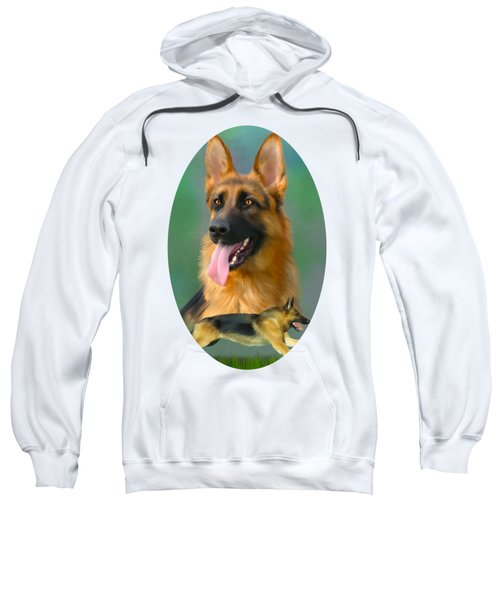 German Shepherd Breed Art Sweatshirt
