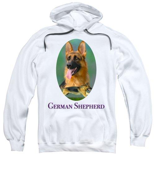 German Shepherd With Name Logo Sweatshirt