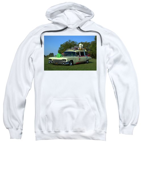 1959 Cadillac Ghostbusters Ambulance Replica Sweatshirt