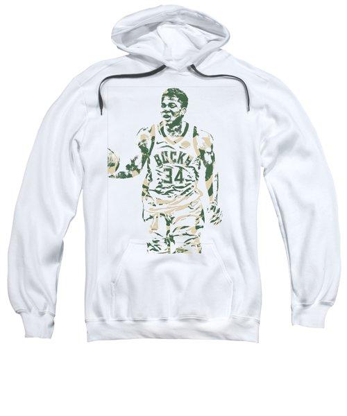 Giannis Antetokounmpo Milwaukee Bucks Pixel Art 21 Sweatshirt