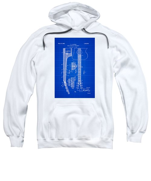 Gibson Guitar Patent 1923 Blue Print Sweatshirt