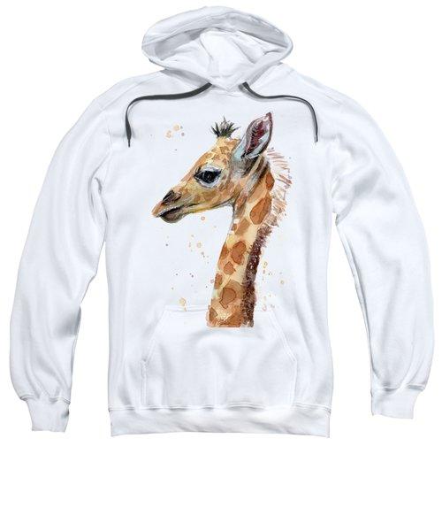 Giraffe Baby Watercolor Sweatshirt