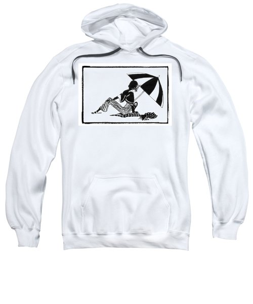 Girl On The Beach Sweatshirt