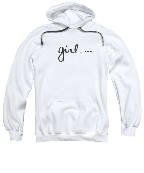 Girl Talk- Art By Linda Woods Sweatshirt by Linda Woods