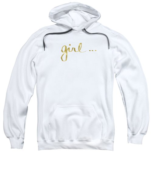 Girl Talk Gold- Art By Linda Woods Sweatshirt