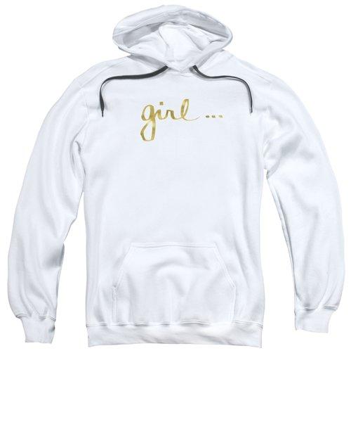 Girl Talk Gold- Art By Linda Woods Sweatshirt