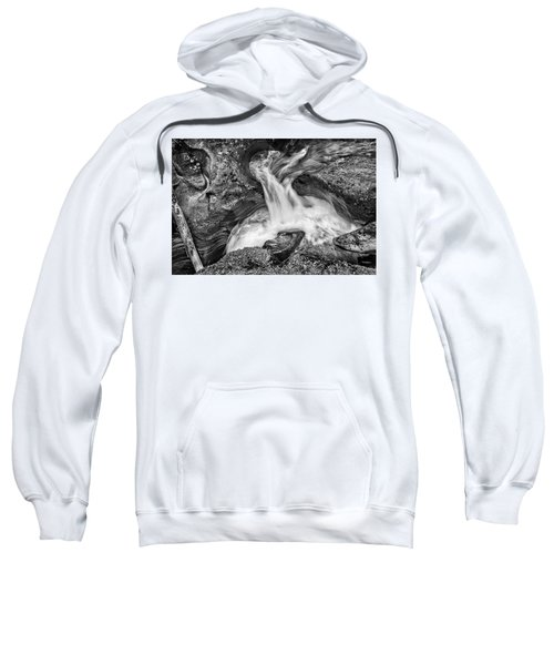 Glacier National Park's Avalanche Gorge In Black And White Sweatshirt