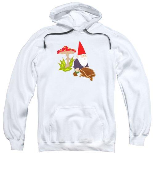 Gnome Garden Sweatshirt by Priscilla Wolfe