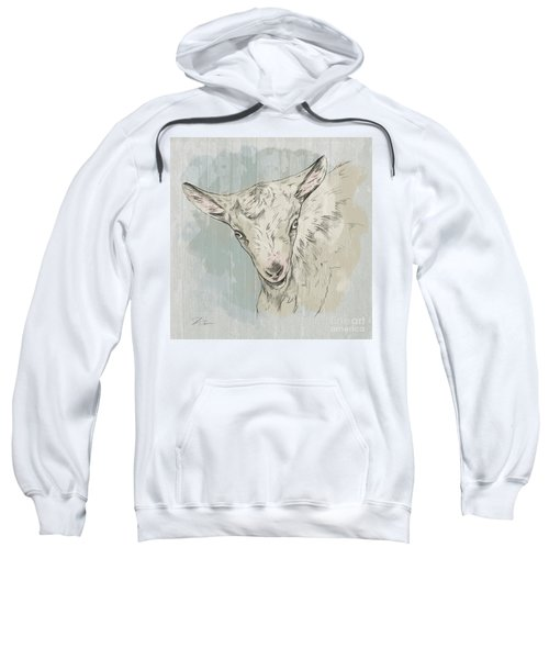 Goat Portrait-farm Animals Sweatshirt