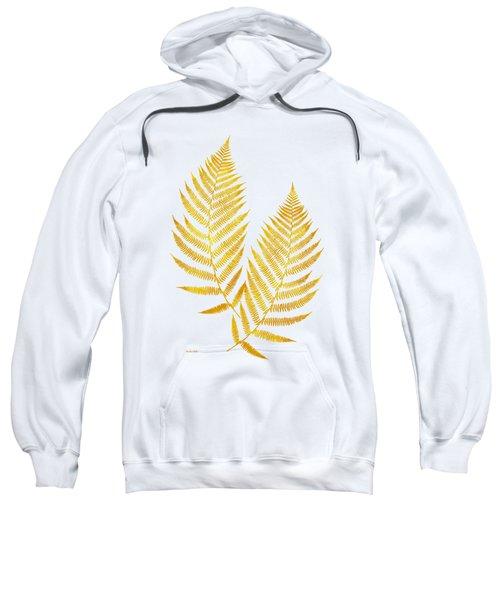 Gold Fern Leaf Art Sweatshirt