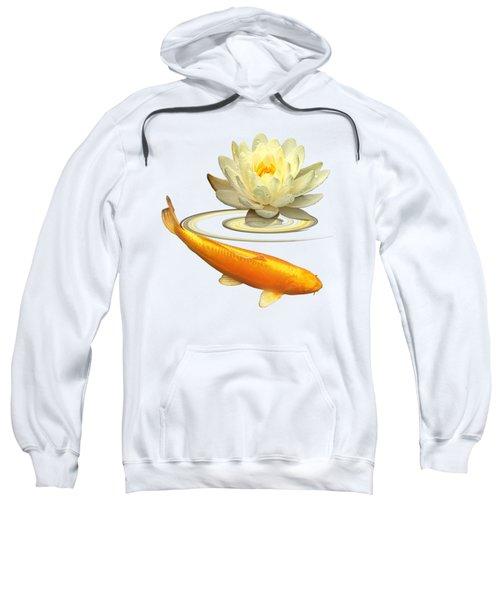 Golden Harmony - Koi Carp With Water Lily Sweatshirt