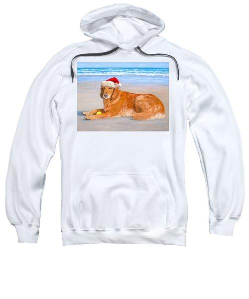 Golden Retreiver Holiday Card Sweatshirt