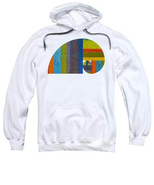 Sweatshirt featuring the digital art Golden Spiral Study by Michelle Calkins