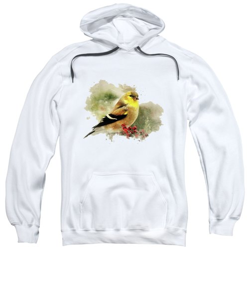 Goldfinch Watercolor Art Sweatshirt by Christina Rollo