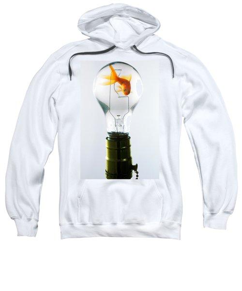 Goldfish In Light Bulb  Sweatshirt