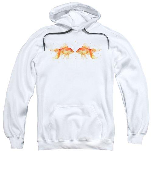 Goldfish Love Watercolor Sweatshirt