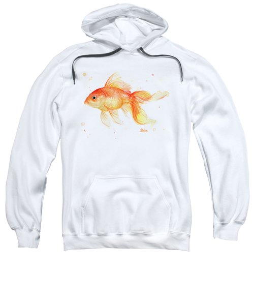 Goldfish Painting Watercolor Sweatshirt