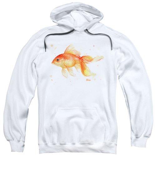 Goldfish Painting Watercolor Sweatshirt