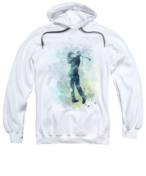 Golf Player  Sweatshirt by Marlene Watson