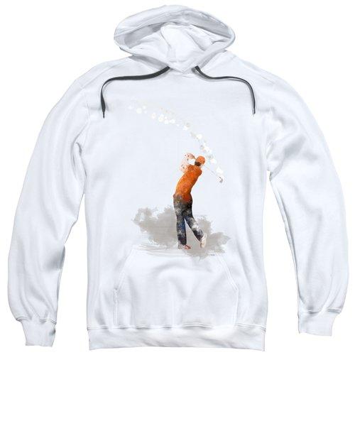 Golfer 1 Sweatshirt by Marlene Watson