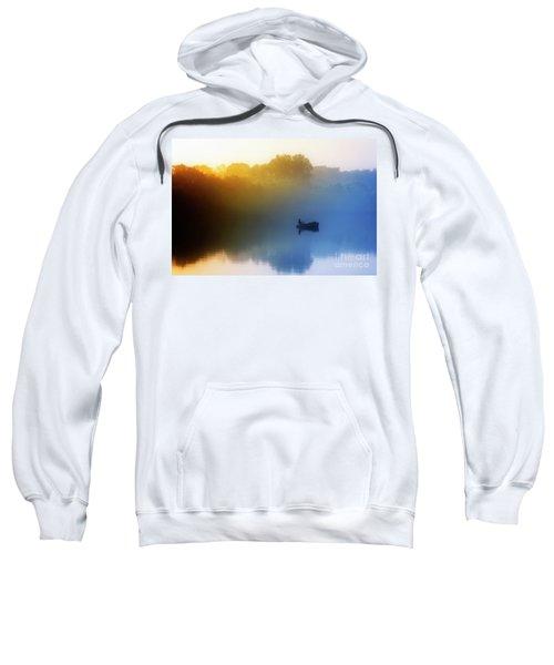 Sweatshirt featuring the photograph Gone Fishing by Scott Kemper