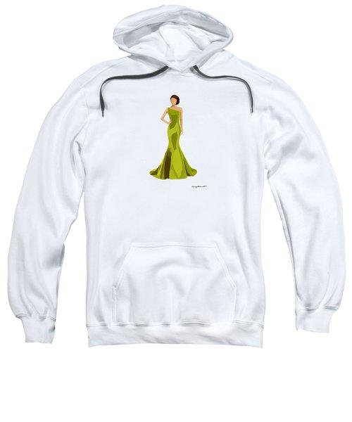 Sweatshirt featuring the digital art Grace by Nancy Levan